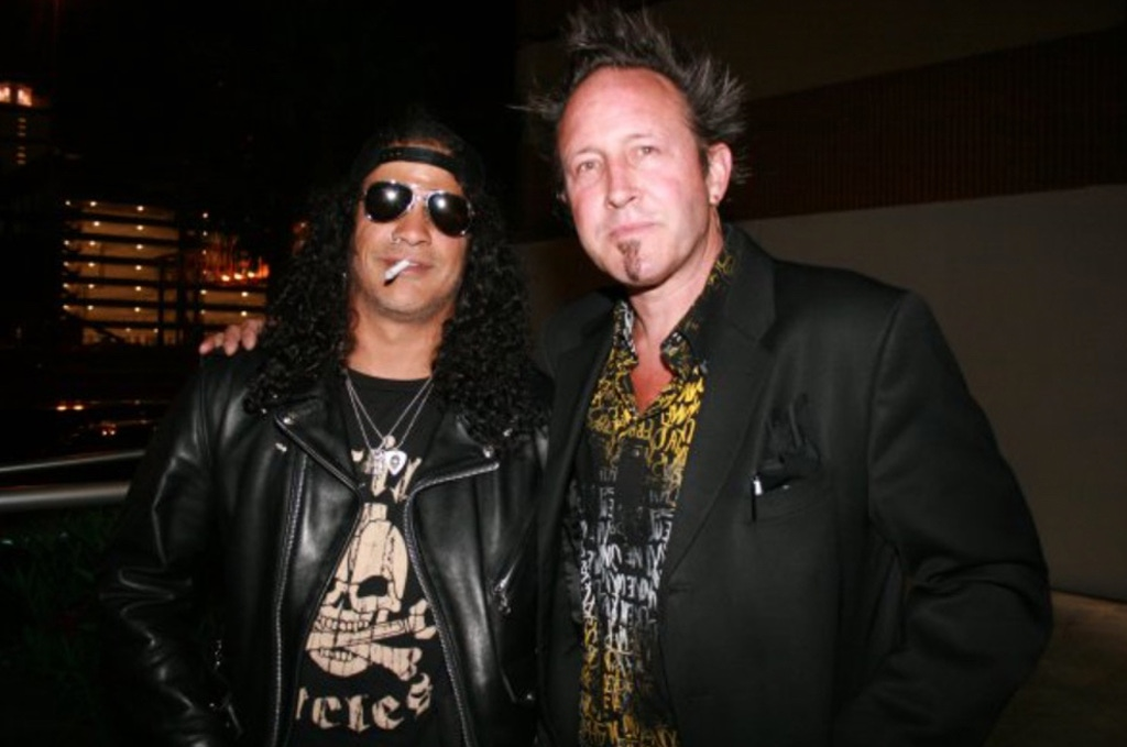 Steve Egglestone with Slash