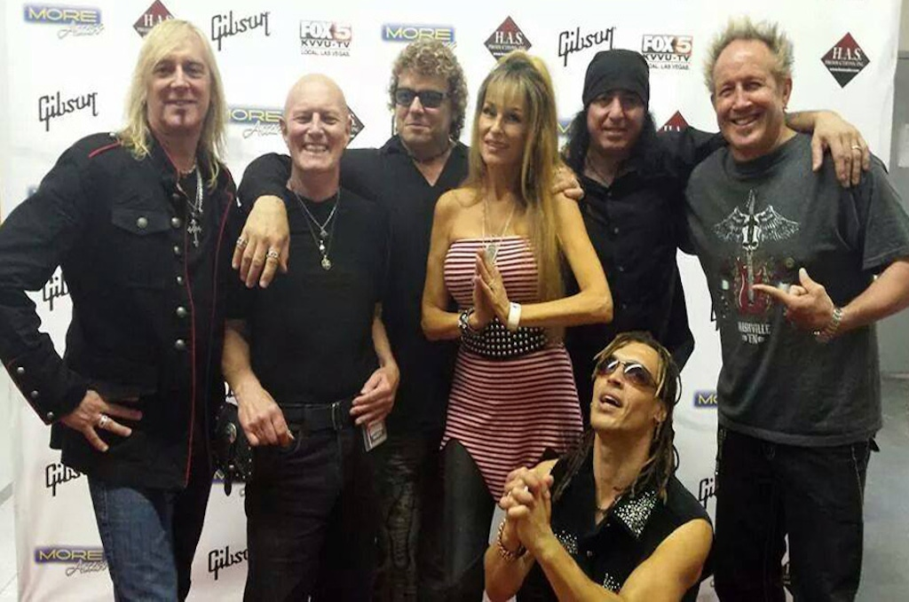 Steve with Gregg Fox, Chris Slade, Janea Chadwick Ebs, Mikey Bones and Jason Ebs