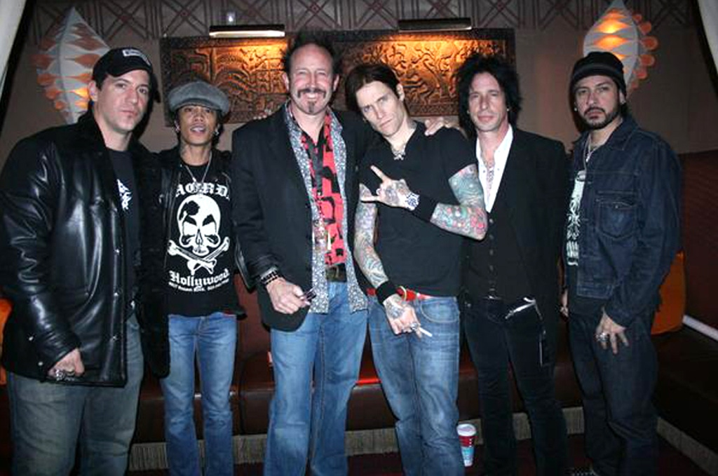 Steve Eggleston with Buckcherry Arm Around Frontman Josh Todd